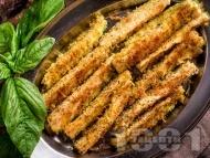 Печени тиквички на фурна с галета и пармезан